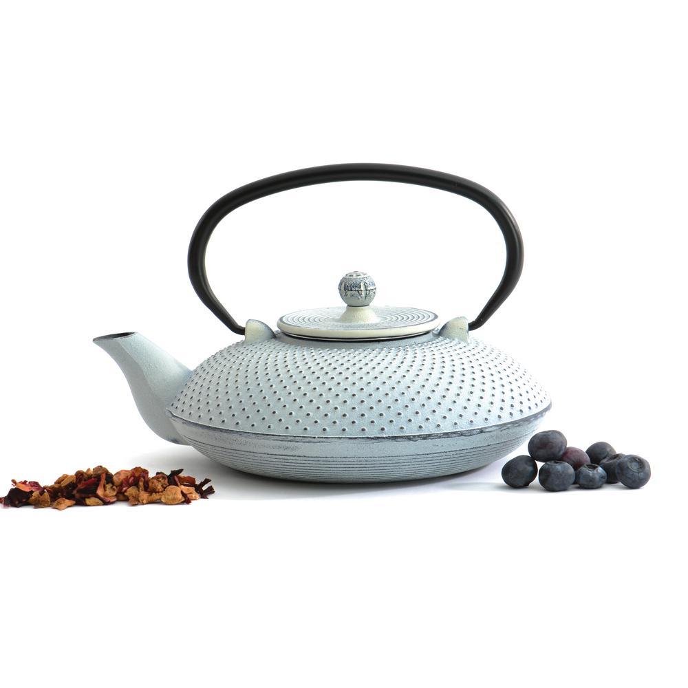 Studio 3.5-Cup White Cast Iron Teapot