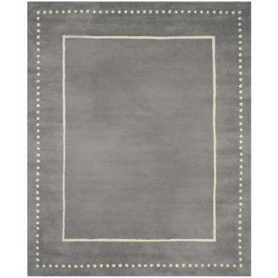 Bella Silver/Ivory 8 ft. x 10 ft. Area Rug