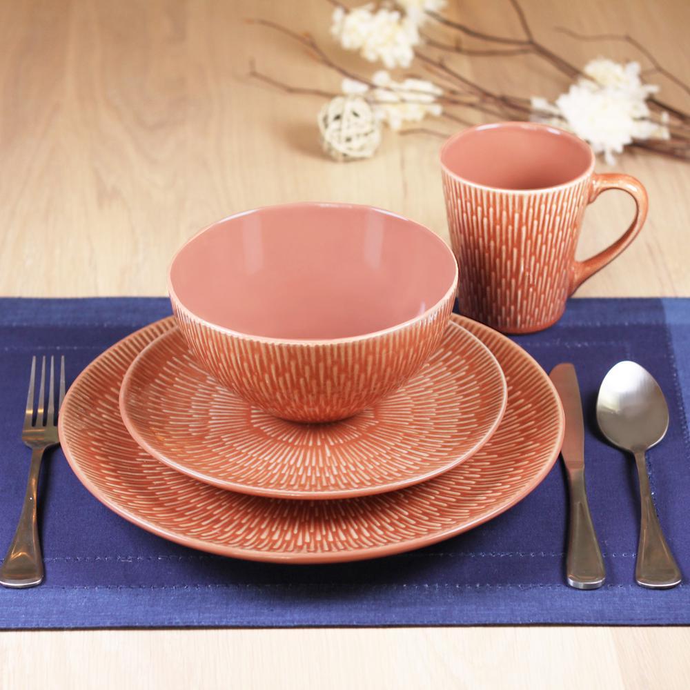 Palisades 16-Piece Paprika Dinnerware Set