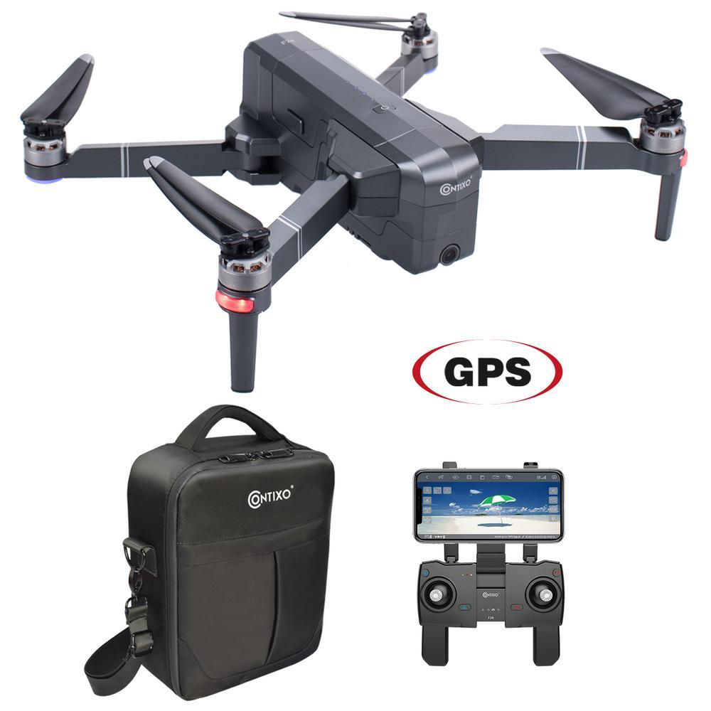 CONTIXO F24 RC Black Quadcopter Drone 1080P WiFi Camera Live Video Photos Altitude RTH GPS FPV Brushless Motors