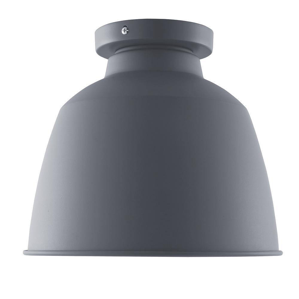 Krent 1-Light Gray Flush-Mount Pendant Lamp