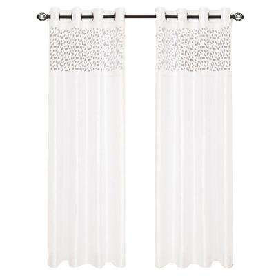 Karla Laser Cut Grommet Curtain Panel