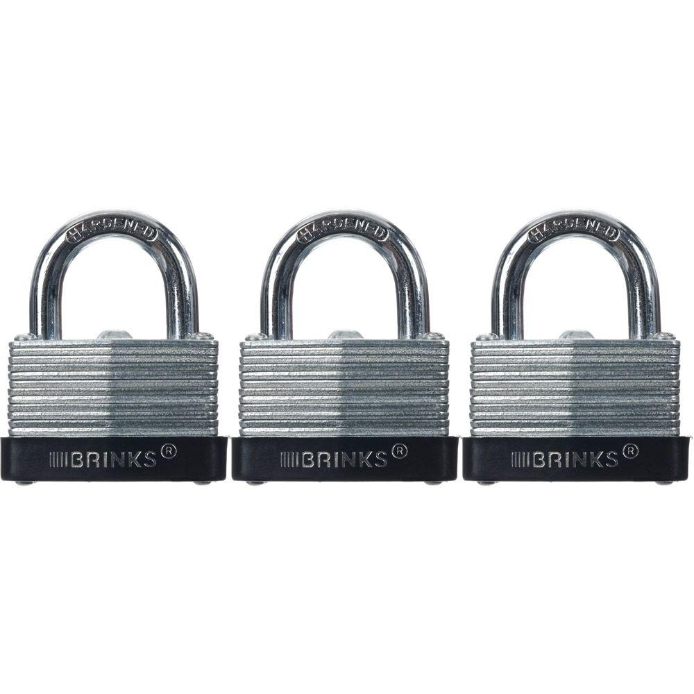 Brinks Home Security 1-9/16 in. (40 mm) Laminated Steel Warded Lock (3-Pack)