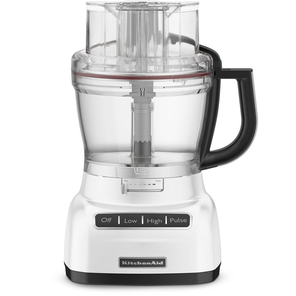 KitchenAid 13-Cup Food Processor with Mini Bowl in White