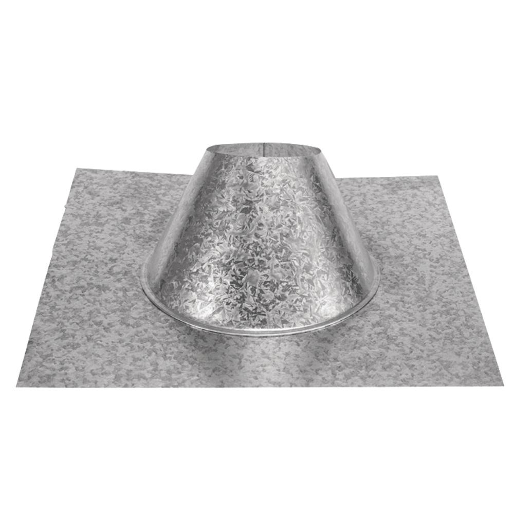 PelletVent 4 in. Adjustable Roof Flashing