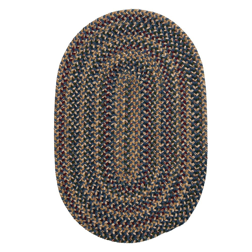 Home Decorators Collection Winchester Blue 11 Ft X 14 Oval Braided Area Rug