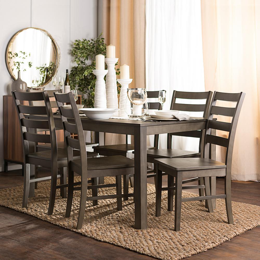 Walker Edison Furniture Company 7-Piece Modern Dining Set ...
