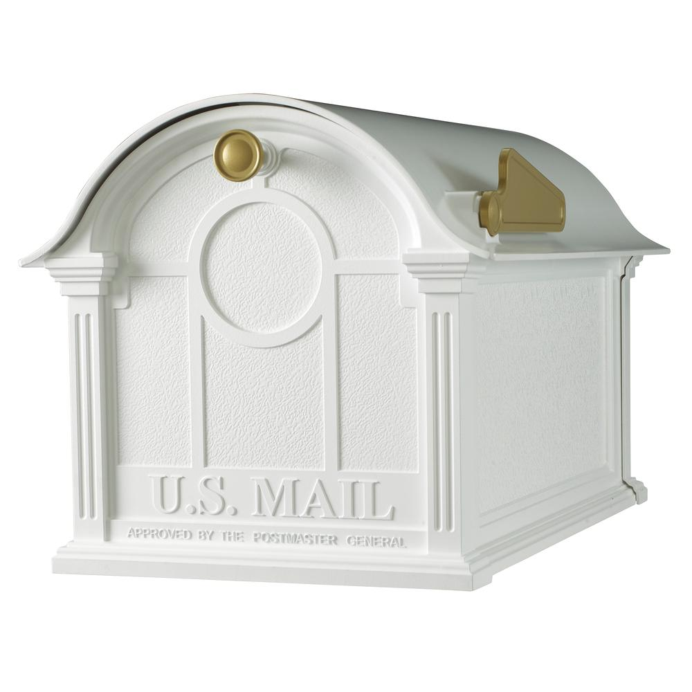 Whitehall Products Balmoral White Mailbox