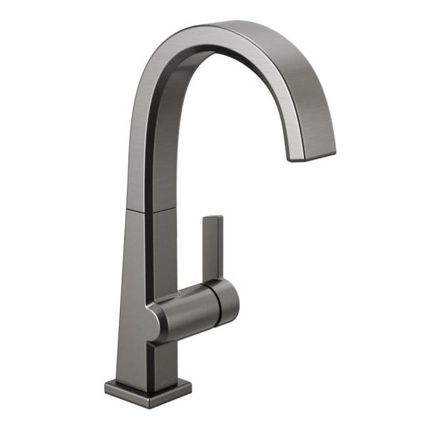 Pivotal Single-Handle Bar Faucet in Black Stainless