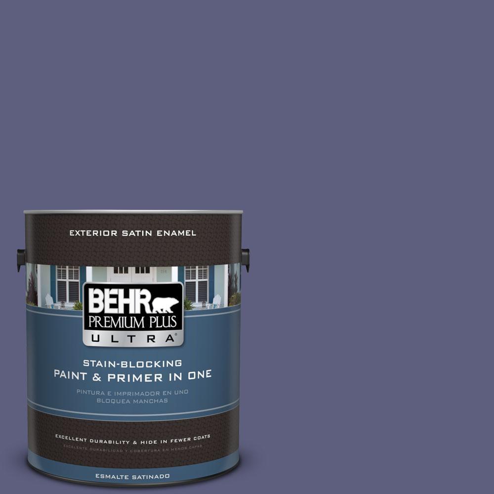 BEHR Premium Plus Ultra 1-gal. #M550-7 Strong Iris Satin Enamel Exterior Paint