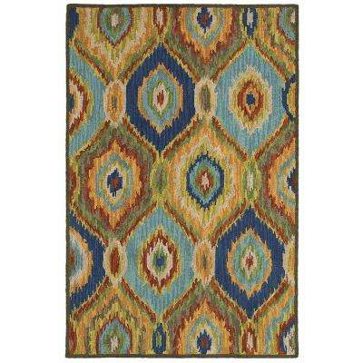Dazzle Blue Multi 8 ft. x 10 ft. Indoor Area Rug