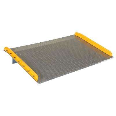 10,000 lb. Capacity 70 in. x 48 in. Aluminum Dock Board with Steel Curb