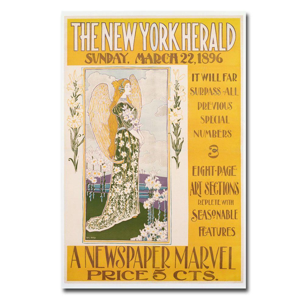 Trademark Fine Art 22 in. x 32 in. The New York Herald 1896 Canvas Art