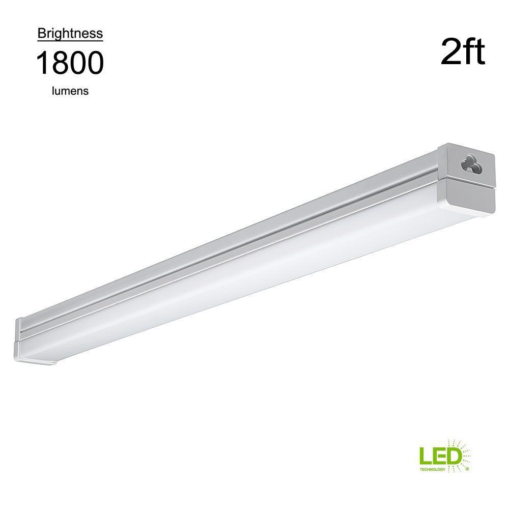 2 ft. High 100 Watt Equivalent Output White Integrated LED Strip Light (2 Pack)