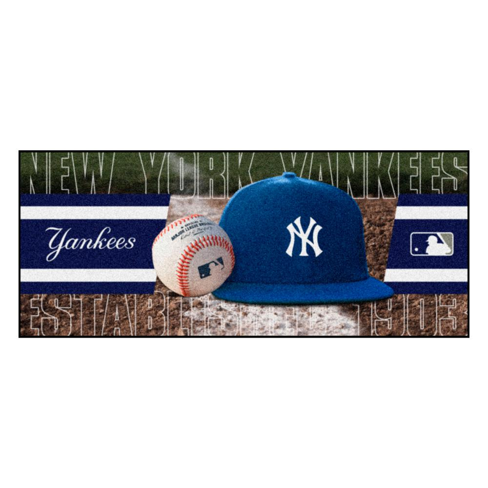 New York Yankees 3 ft. x 6 ft. Baseball Runner Rug