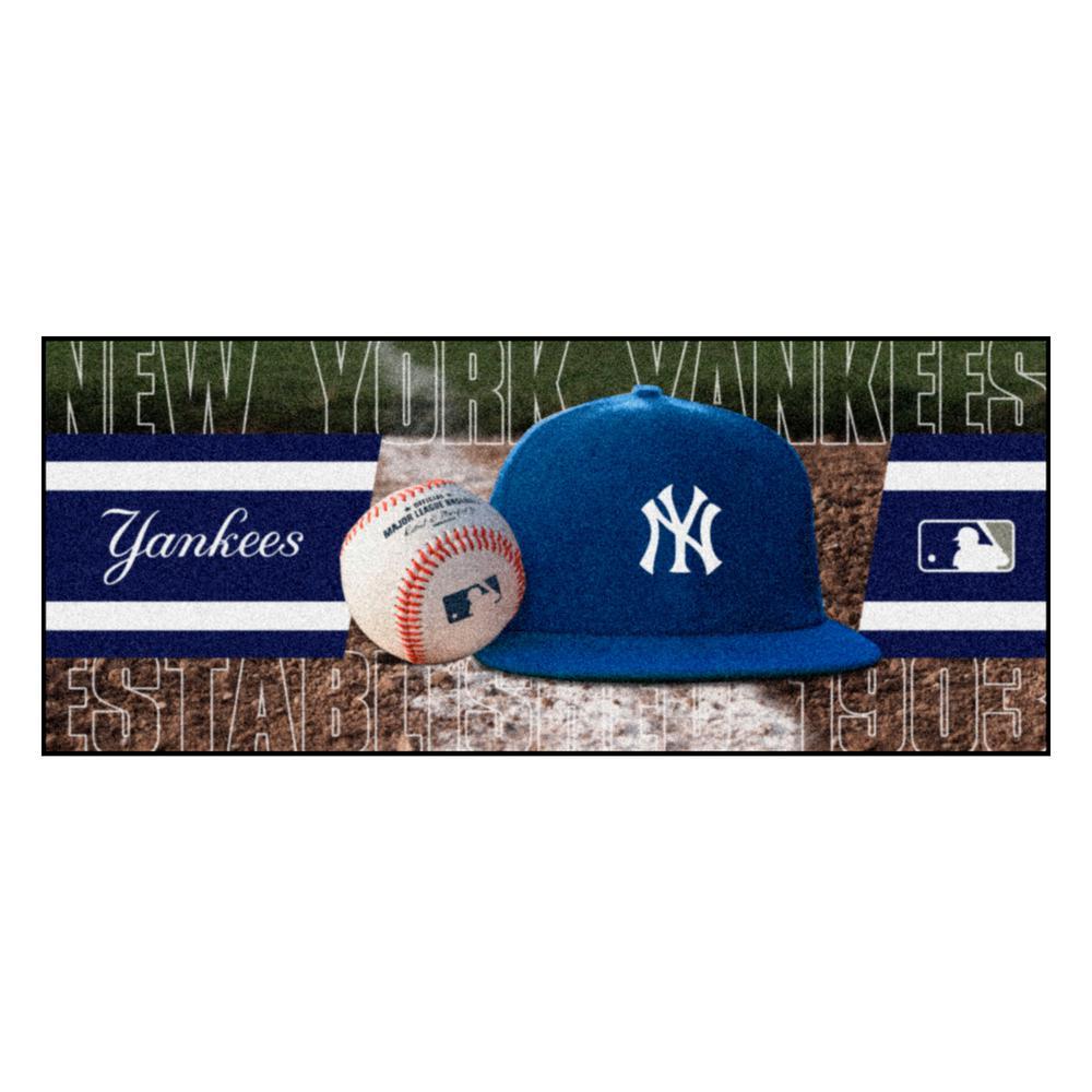 New York Yankees 3 ft. x 6 ft. Baseball Runner Rug