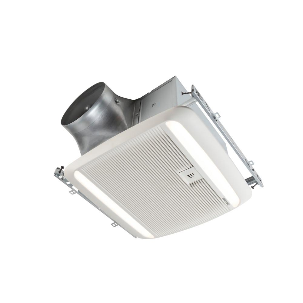 Broan ultra green zb series 110 cfm multi speed ceiling bathroom exhaust fan with led light and for Installation of bathroom exhaust fan