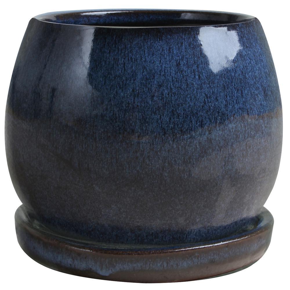 6 in. Artisan Blue Ceramic Planter
