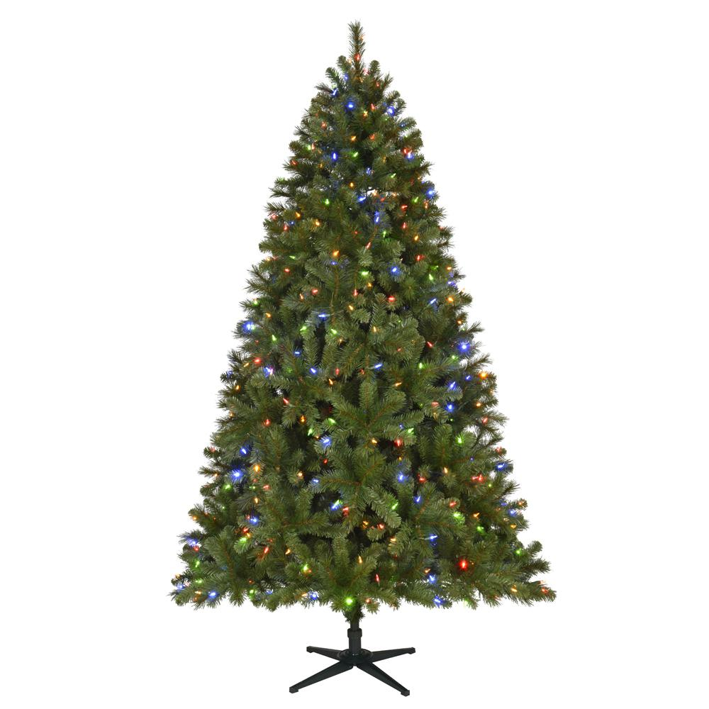 7.5 ft. Pre-Lit LED Wesley Spruce Artificial Christmas Tree with 550