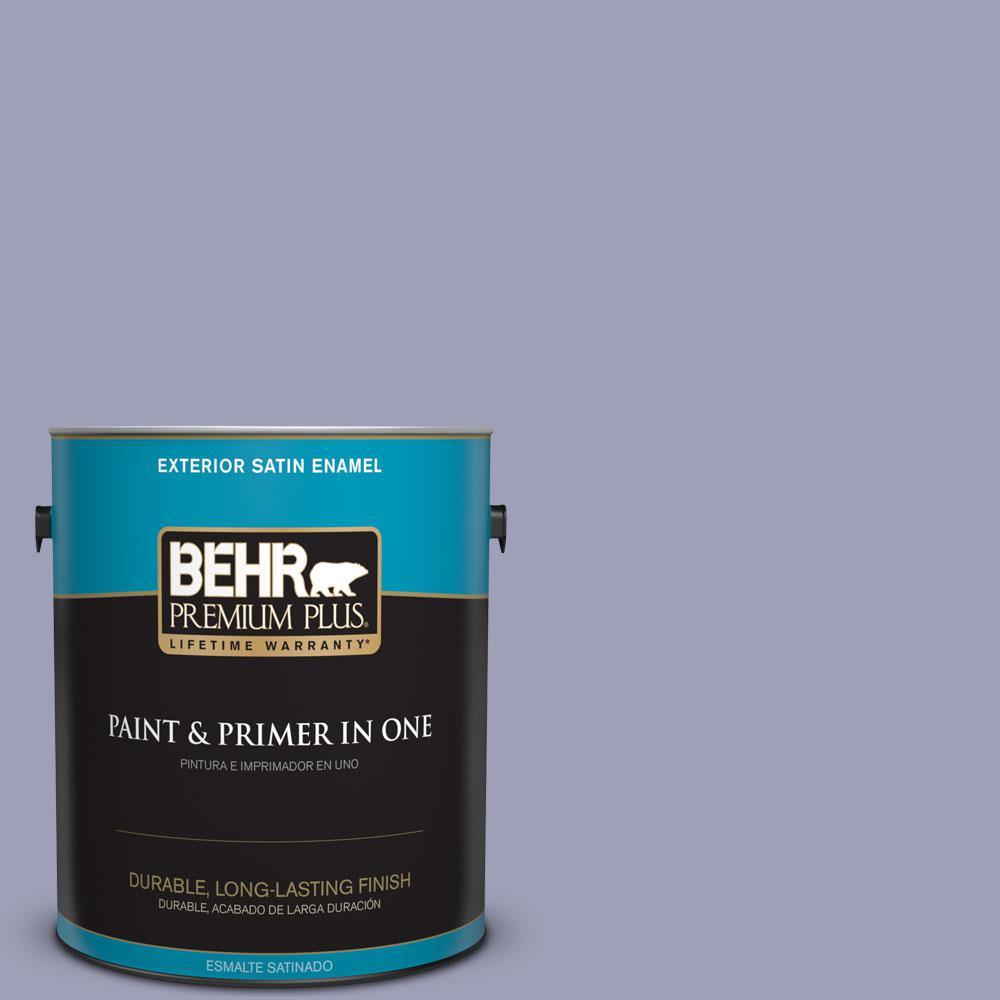 1-gal. #630F-4 Wild Thistle Satin Enamel Exterior Paint