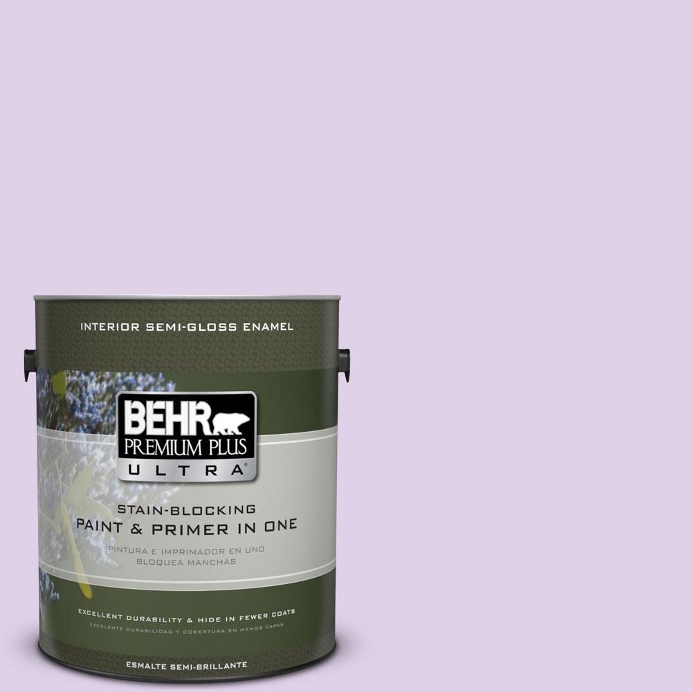 BEHR Premium Plus Ultra 1-gal. #P570-1 Teary Eyed Semi-Gloss Enamel Interior Paint