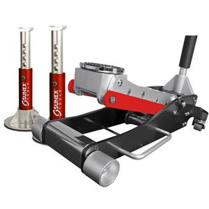 Sunex 3.5-Ton Service Jack with Quick Lifting System with Jack Stands by Sunex