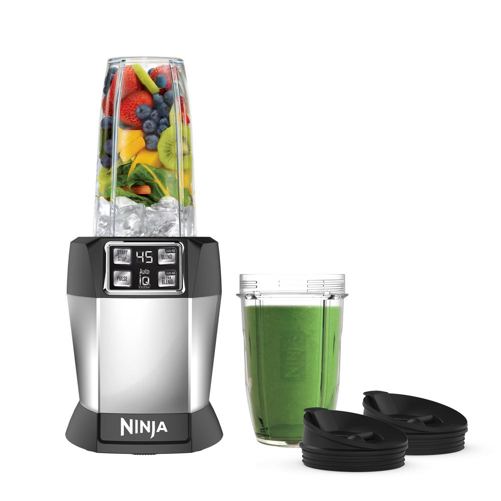 NINJA Nutri Auto iQ 24 oz. 3-Speed Black High Speed Single Serve Blender-BL480D - The Home Depot