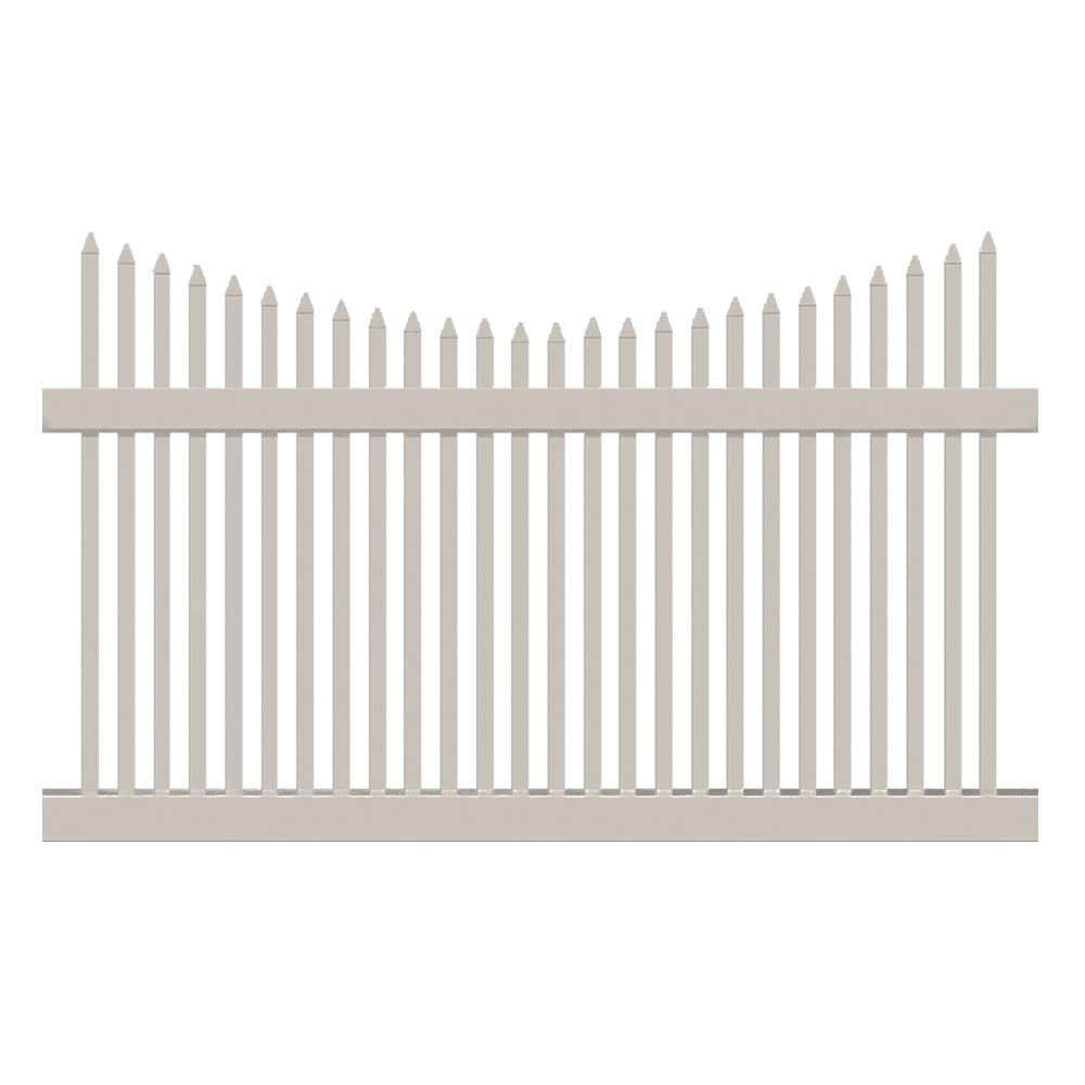 Barrington 4 ft. H x 6 ft. W Tan Vinyl Picket