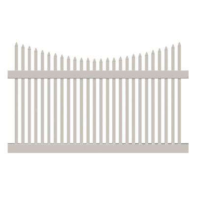 Barrington 5 ft. H x 8 ft. W Tan Vinyl Picket Fence Panel Kit