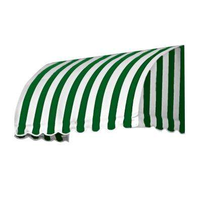 8 ft. Savannah Window/Entry Awning (44 in. H x 36 in. D) in Forest/White Stripe