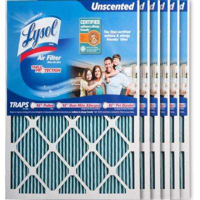 20 in. x 25 in. x 1 in. Certified Asthma and Allergy Triple Protection Air Filter (6-Pack)