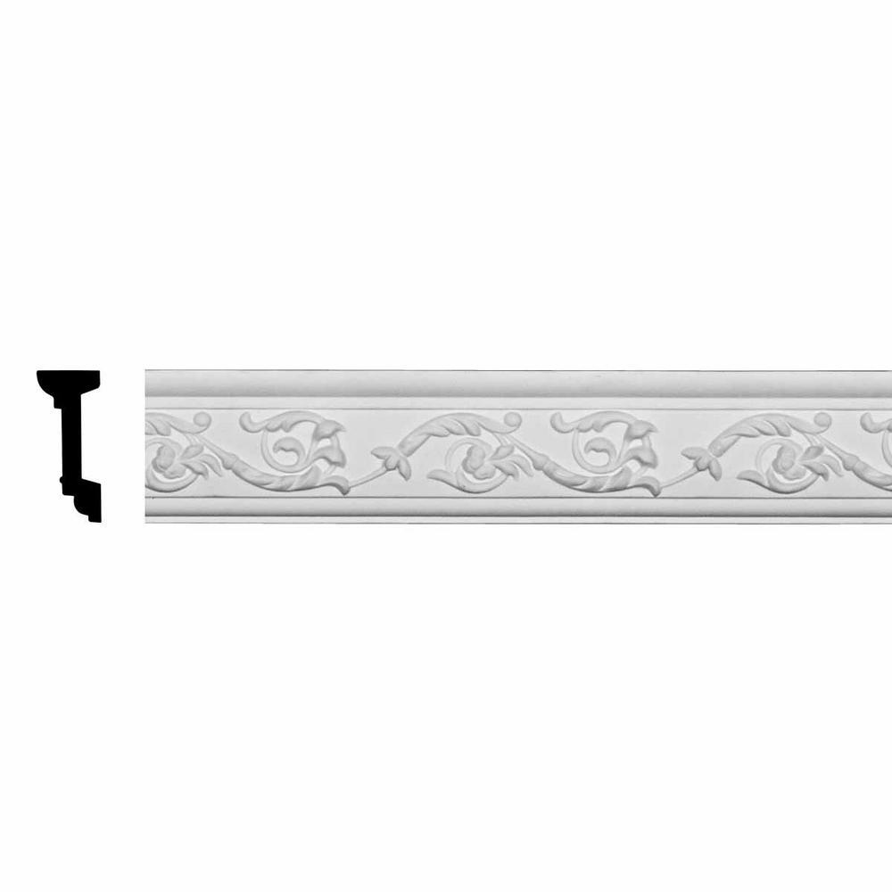 1-3/8 in. x 3-1/8 in. x 94-1/2 in. Polyurethane Versailles Floral