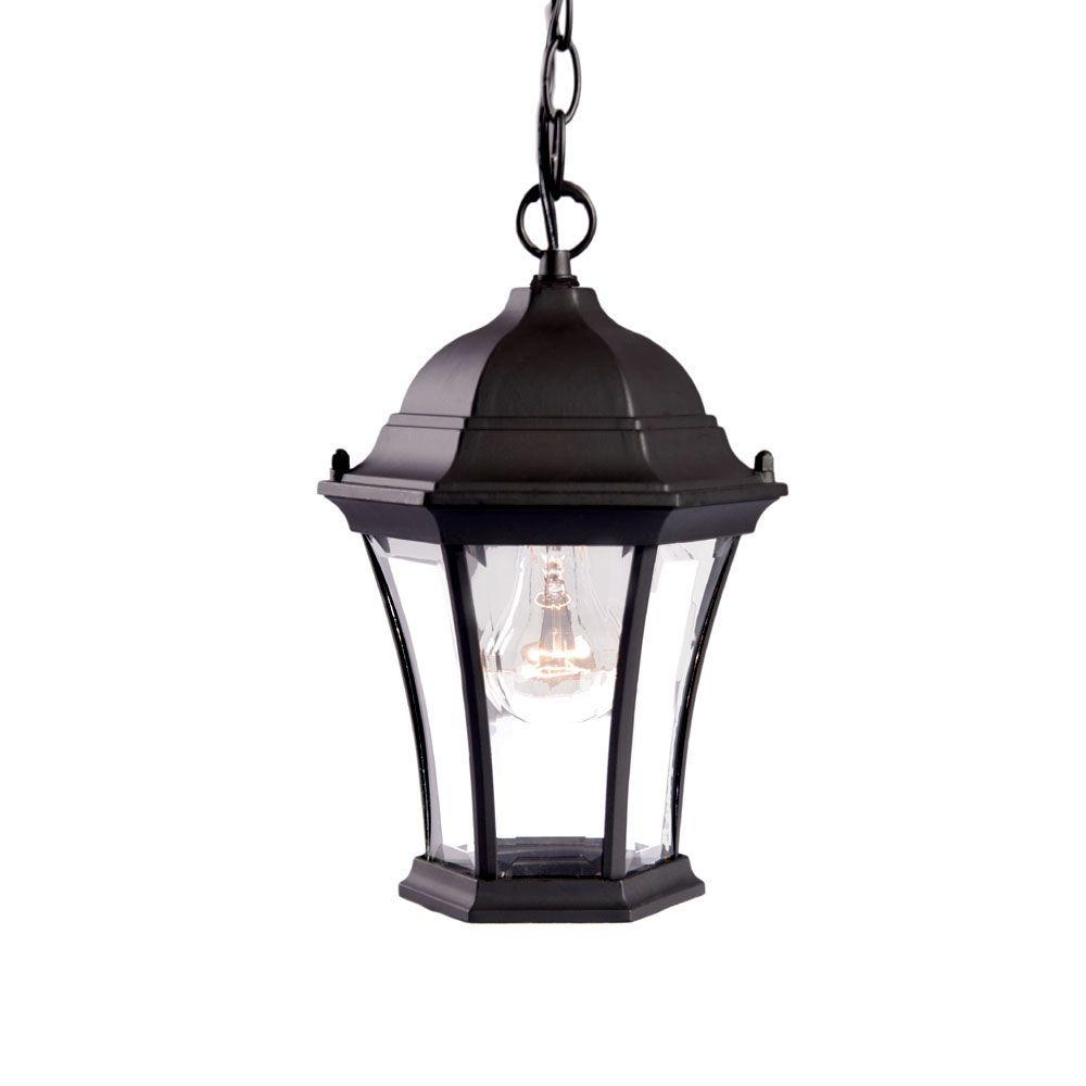Acclaim Lighting Brynmawr Collection Hanging Lantern 1-Light Outdoor Matte Black Light Fixture