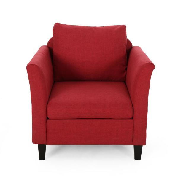 Clostermen Red and Dark Brown Upholstered Club Chair