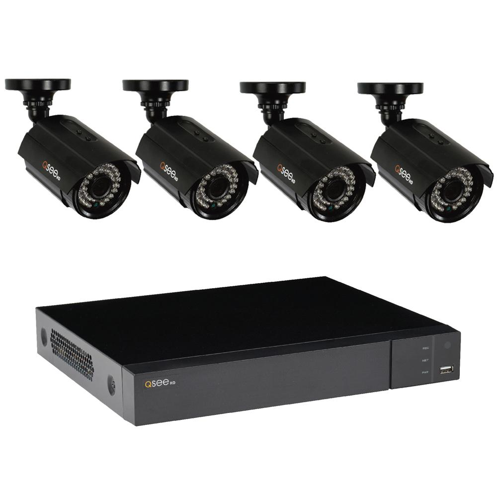 Q-SEE 8-Channel 1080p 1TB Video Surveillance System with 4 HD Bullet Cameras and 100 ft. Night Vision