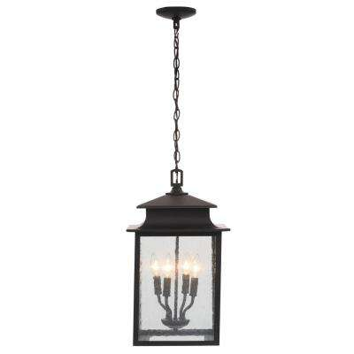 Sutton Collection 4-Light Rust Outdoor Hanging Lantern