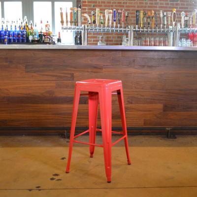Loft Style 30 in. Stackable Metal Bar Stool in Red