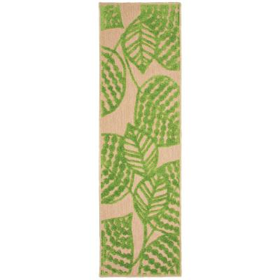 Home Decorators Collection Mali Green 2 Ft X 8 Ft Outdoor Runner Rug 9905810610 The Home Depot