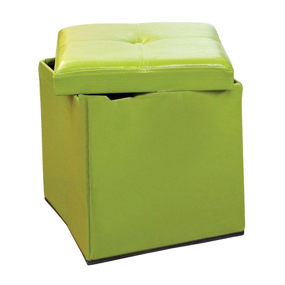 Merveilleux Simplify Lime Storage Ottoman