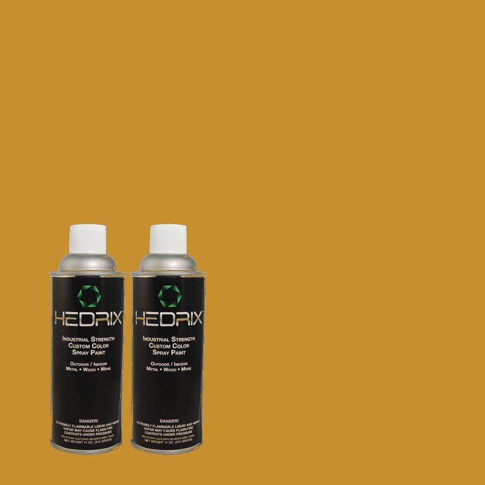 Hedrix 11 oz. Match of S-H-340 Treasures Flat Custom Spray Paint (2-Pack)