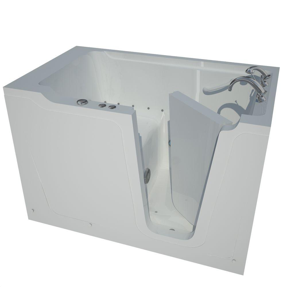 Universal Tubs Nova Heated 5 ft. Walk-In Air Jetted Tub in White ...