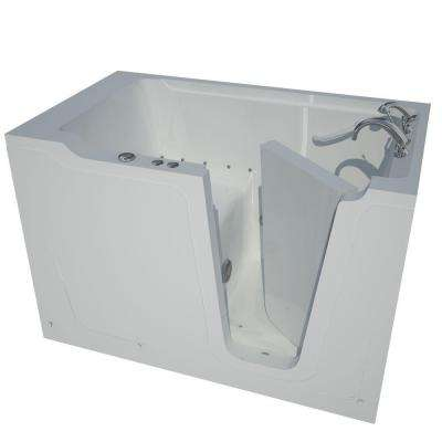 HD Series 60 in. Right Drain Quick Fill Walk-In Air Bath Tub with Powered Fast Drain in White