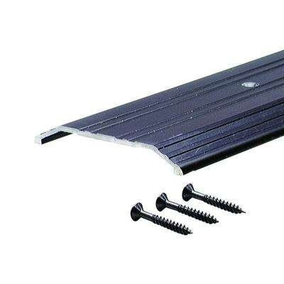 Fluted Saddle 4 in. x 48-1/2 in. Bronze Aluminum Commercial Threshold