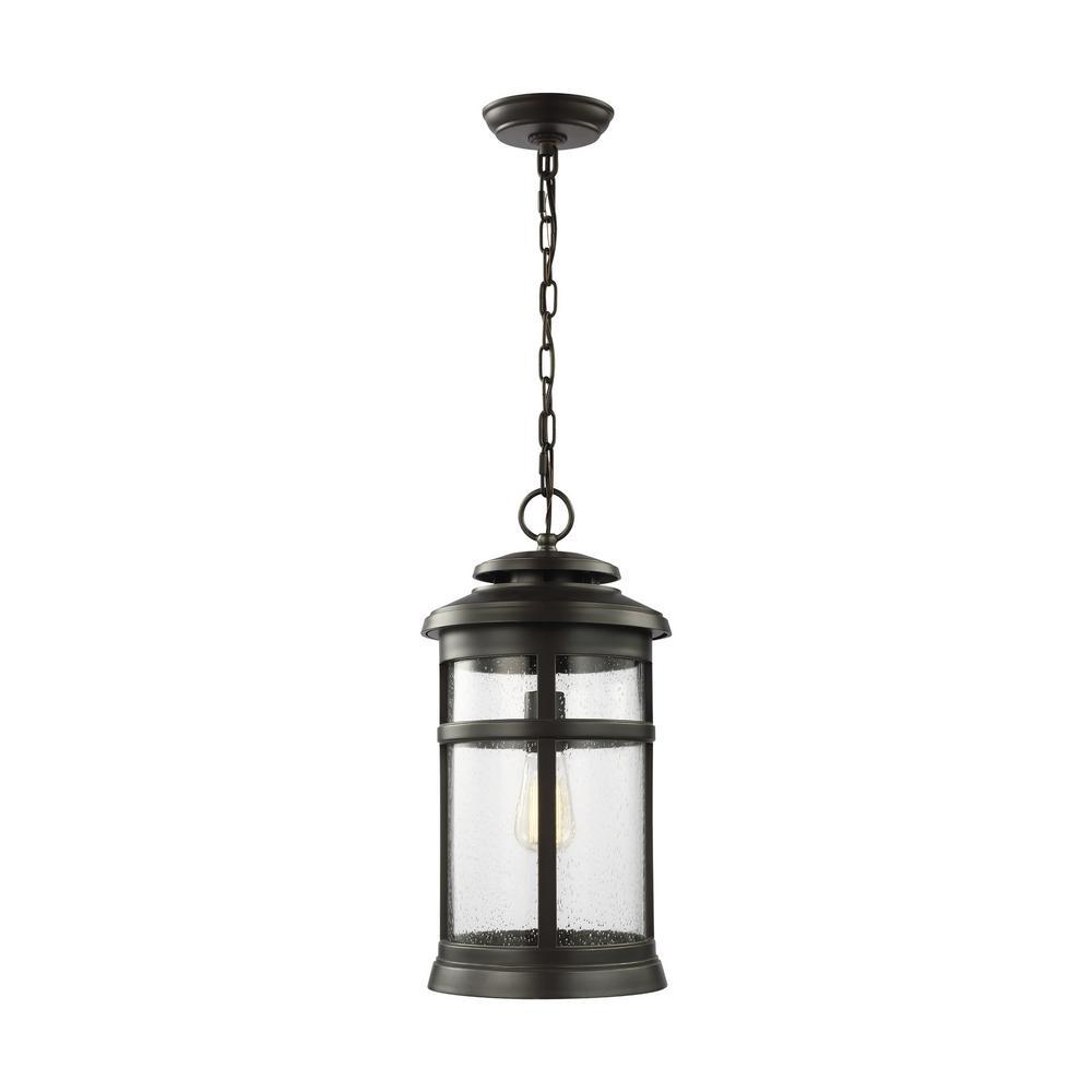 Newport Antique Bronze 1-Light Hanging Lantern