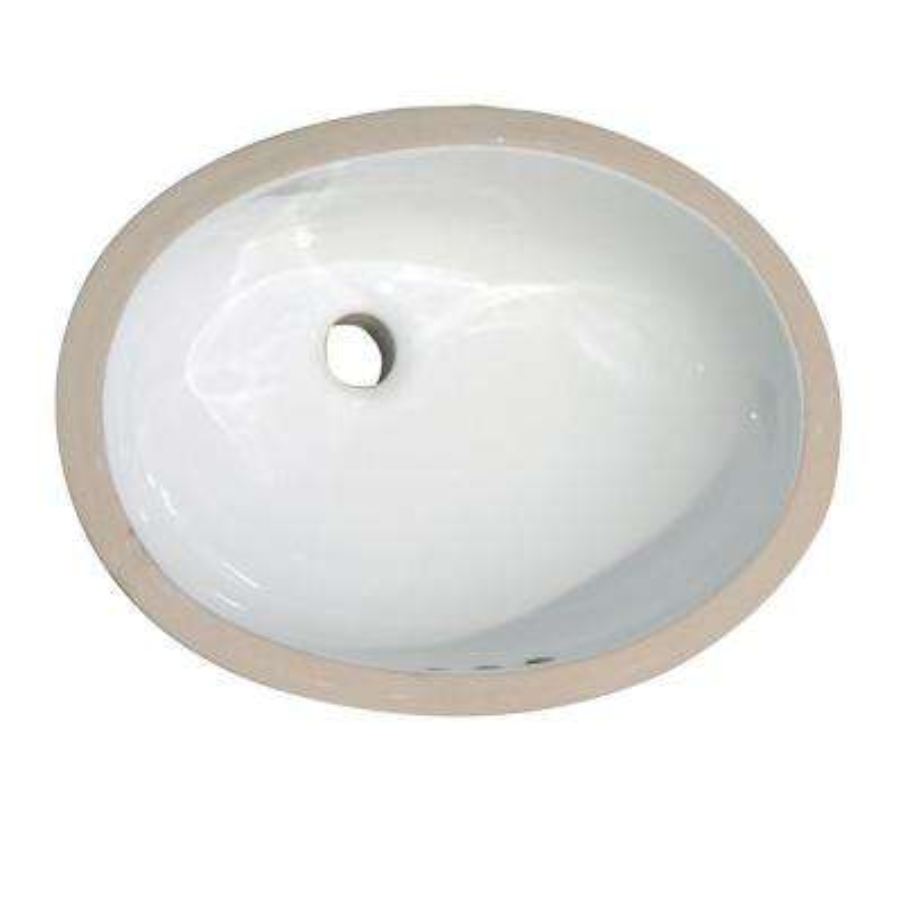 Rosa 570 Undermount Bathroom Sink In White