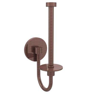 Skyline Collection Upright Single Post Toilet Paper Holder in Antique Copper