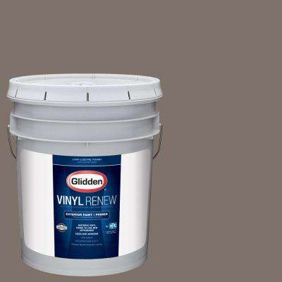 5 gal. #HDGWN26U Fauna Brown Low-Lustre Exterior Paint with Primer