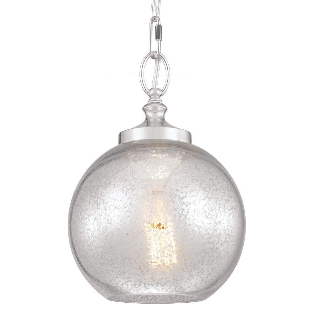 Tabby 1-Light Polished Nickel Mini Pendant
