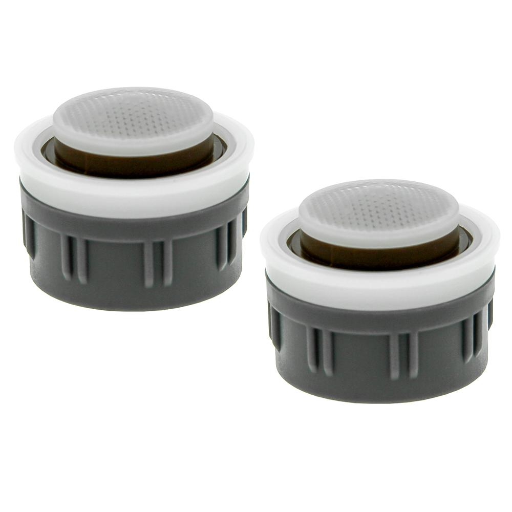 0.35 GPM Mikado Water-Saving Faucet Aerator Insert with Washers (2-Pack)