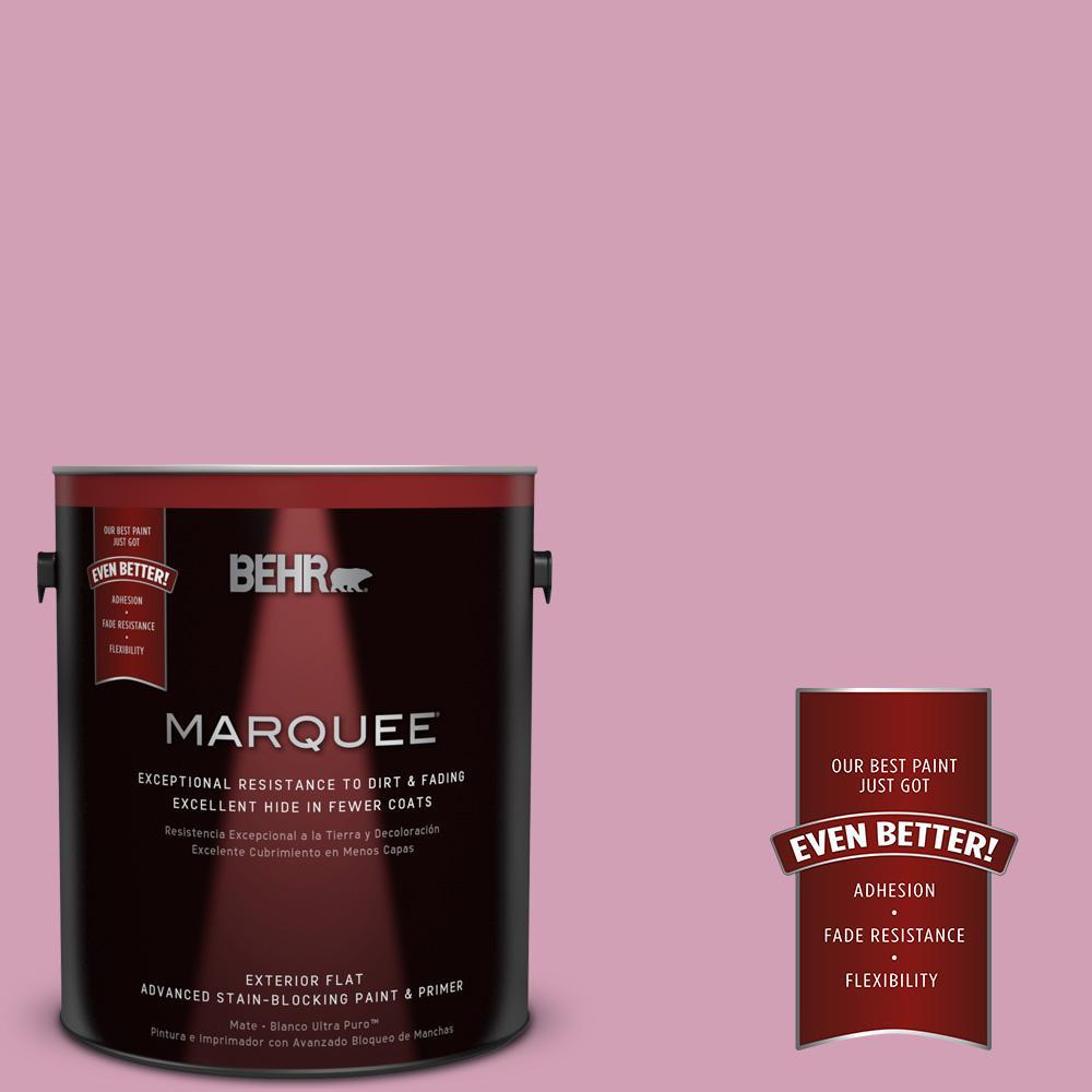 BEHR MARQUEE 1-gal. #M130-4 Raspberry Smoothie Flat Exterior Paint